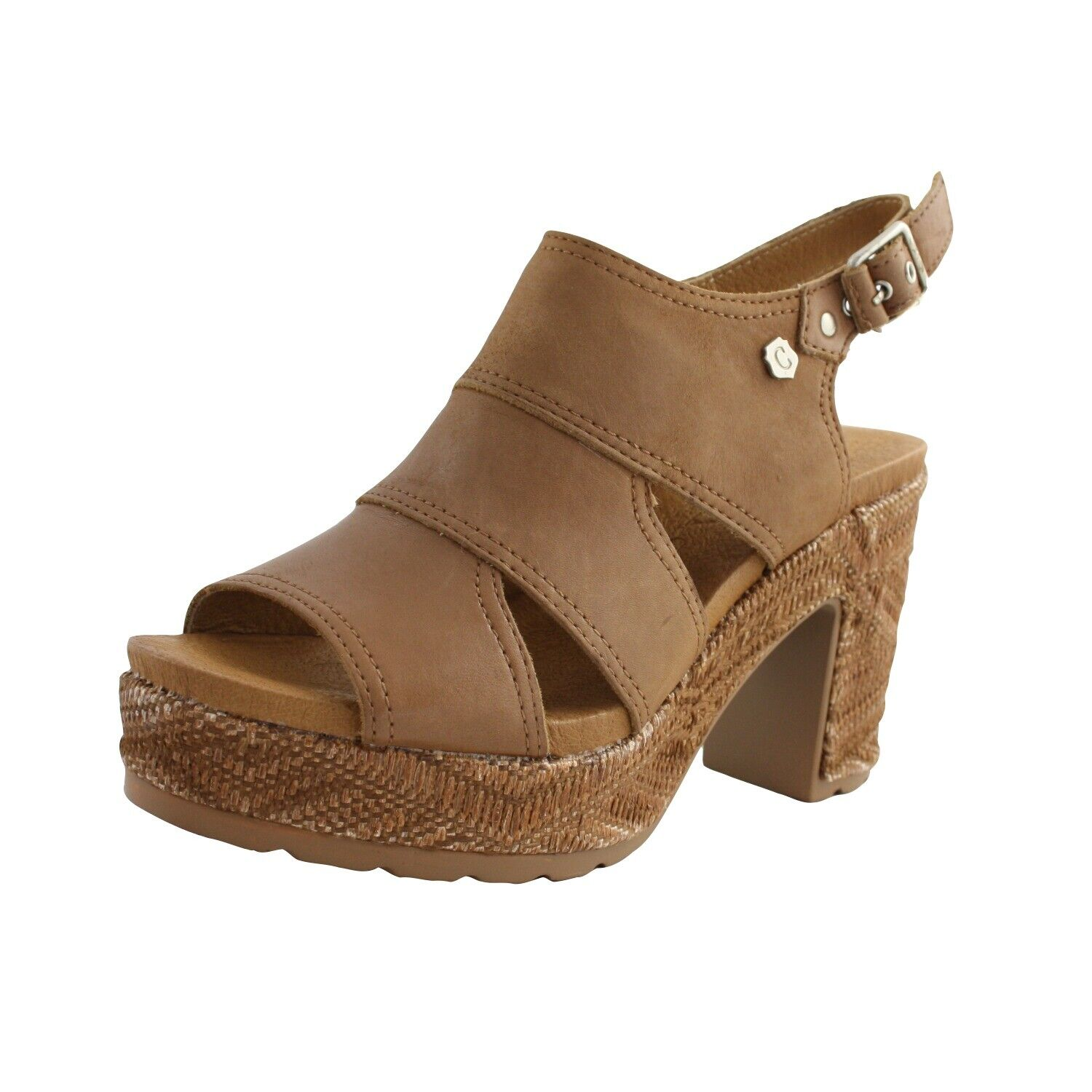 Shoes Sandals Summer Carmela Womens Brown Leather Leather Heel Comfortable