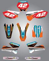 Ktm 85 2006 - 2012 Full Custom Graphic Kit - Strike Style / Stickers,decals