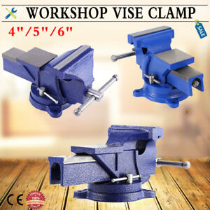 Marvelous Details About 4 5 6 Heavy Duty Work Bench Vice Engineer Jaw Swivel Base Workshop Vise Clamp Bralicious Painted Fabric Chair Ideas Braliciousco