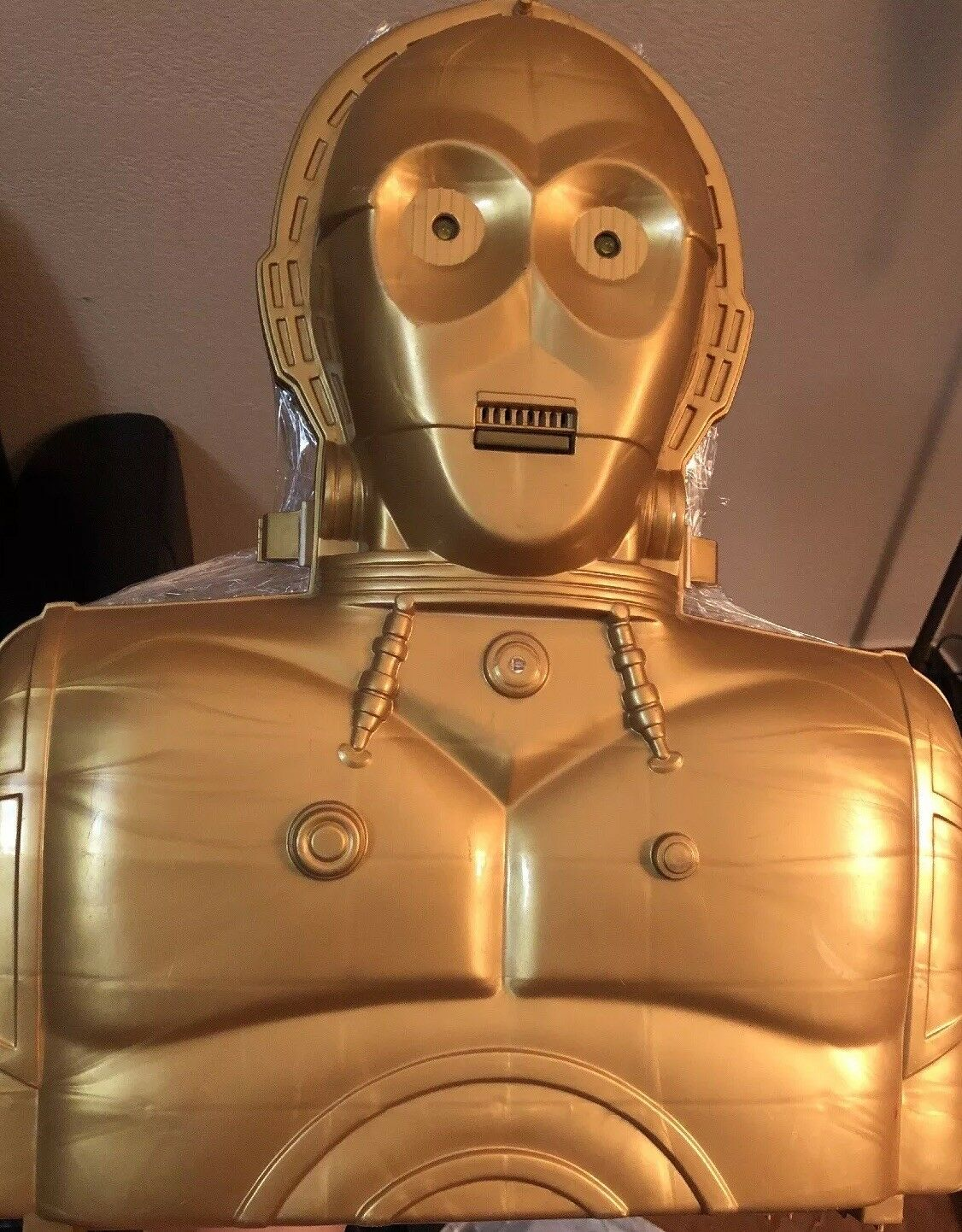 Star wars Colección figures + Electronic Electronic Electronic Talking C-3PO Carry Case 1996 W sound e404c3