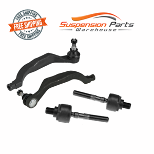 Replacement Front Steering Tie Rod End Inner Outer Set fits 91-95 Acura Legend