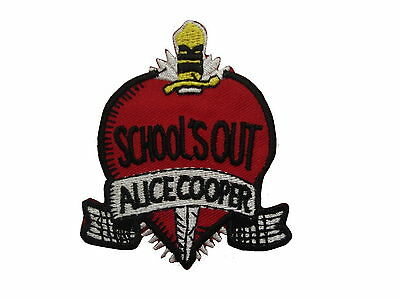 """Alice Cooper Heart Embroidered Iron On Shirt Applique Badge Patch 2.8"""""""