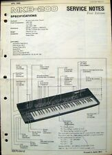 Roland MKB-200 Original 1986 Midi Master Keyboard Service Manual Schematics Book