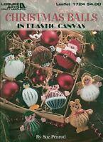 Christmas Balls Santa Snowman Angel Penguin Deer Plastic Canvas Pattern Book