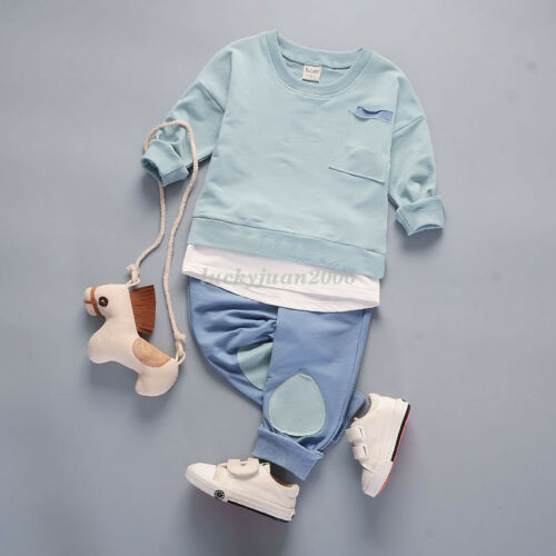 Newborn Baby Boys Clothing Sets Long Sleeve Top Pants Toddler Casual Outfits