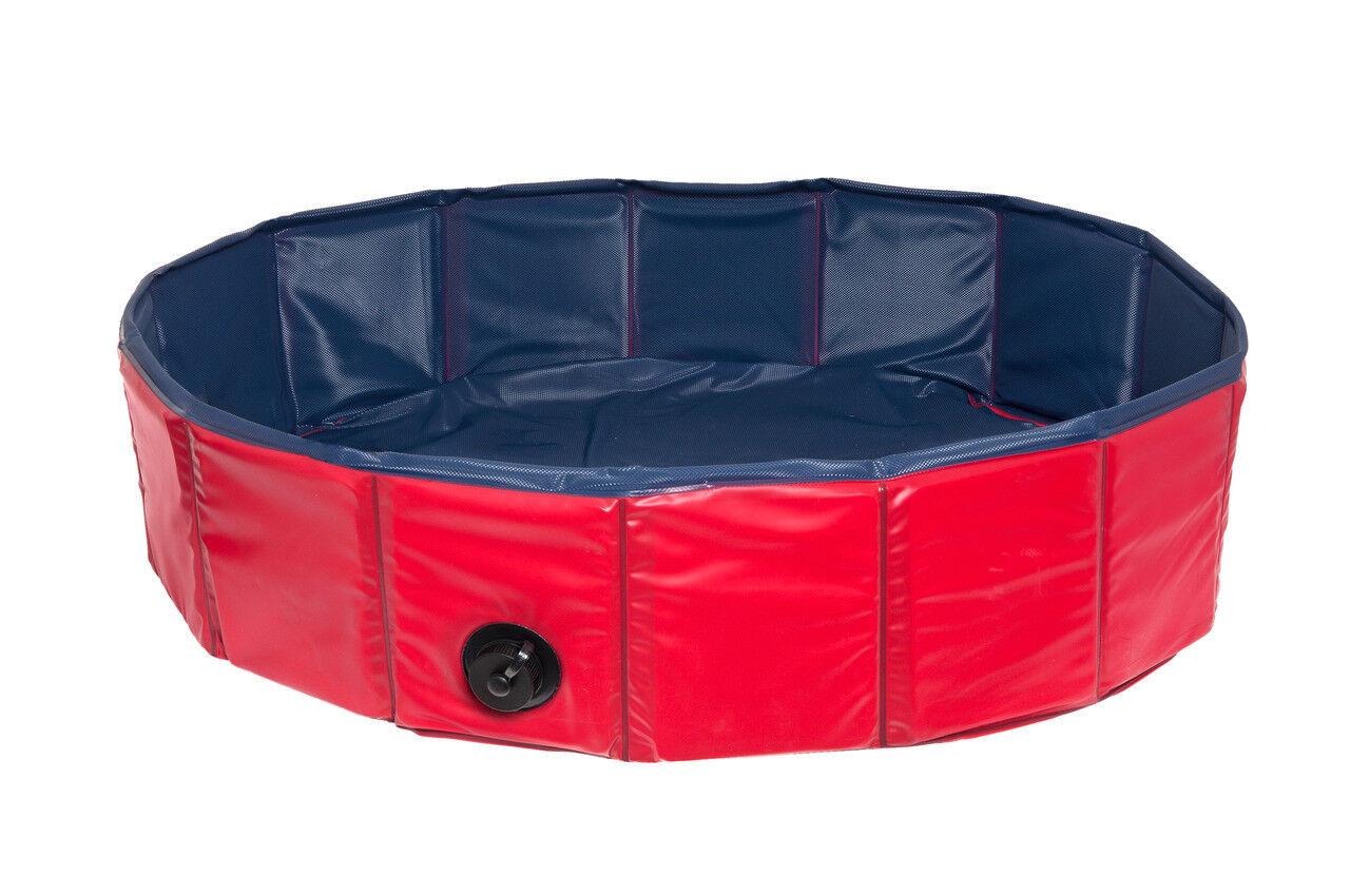 Karlie Doggy Pool Wasserspielzeug für Hunde 120 cm blau-rot  | Hohe Qualität