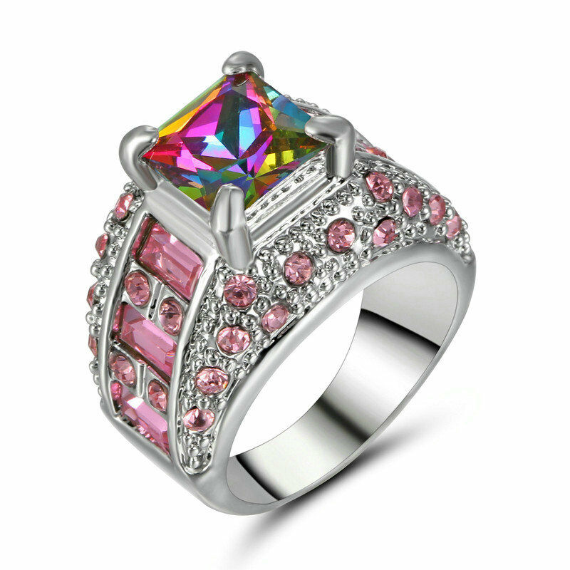 sterling gem women silver ring rings design pride engagement gifts s jexxi rainbow say gay products new girls fashion it jewelry pretty