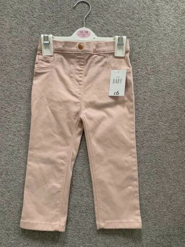 George Baby Pink Girls Trousers Size 12-18 Months New