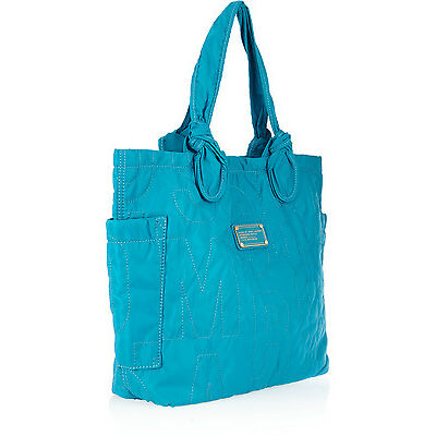 MARC BY MARC JACOBS OCEAN SAPPHIRE NYLON QUILTED TOTE/BEACH BAG BNWT RETAIL £275