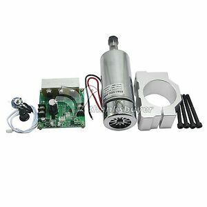 CNC 0.4KW Air Cooling Spindle Motor ER11 /& Mach3 PWM Controller /& Mount