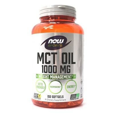 NOW Foods MCT OIL Keto Weight Loss 1000 mg, 150 Softgels