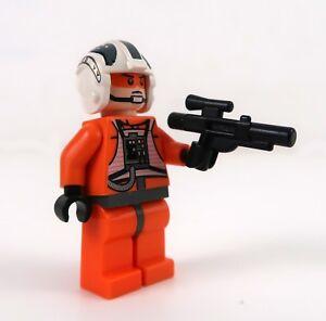 Lego-8083-Star-Wars-Zev-Senesca-X-Wing-Rebel-Pilot-Minifigure-with-Blaster