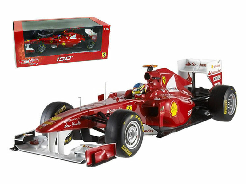 Ferrari 150 Italia F2011 Fernando Alonso 1 18 modelo de coche por Hotwheels W1073