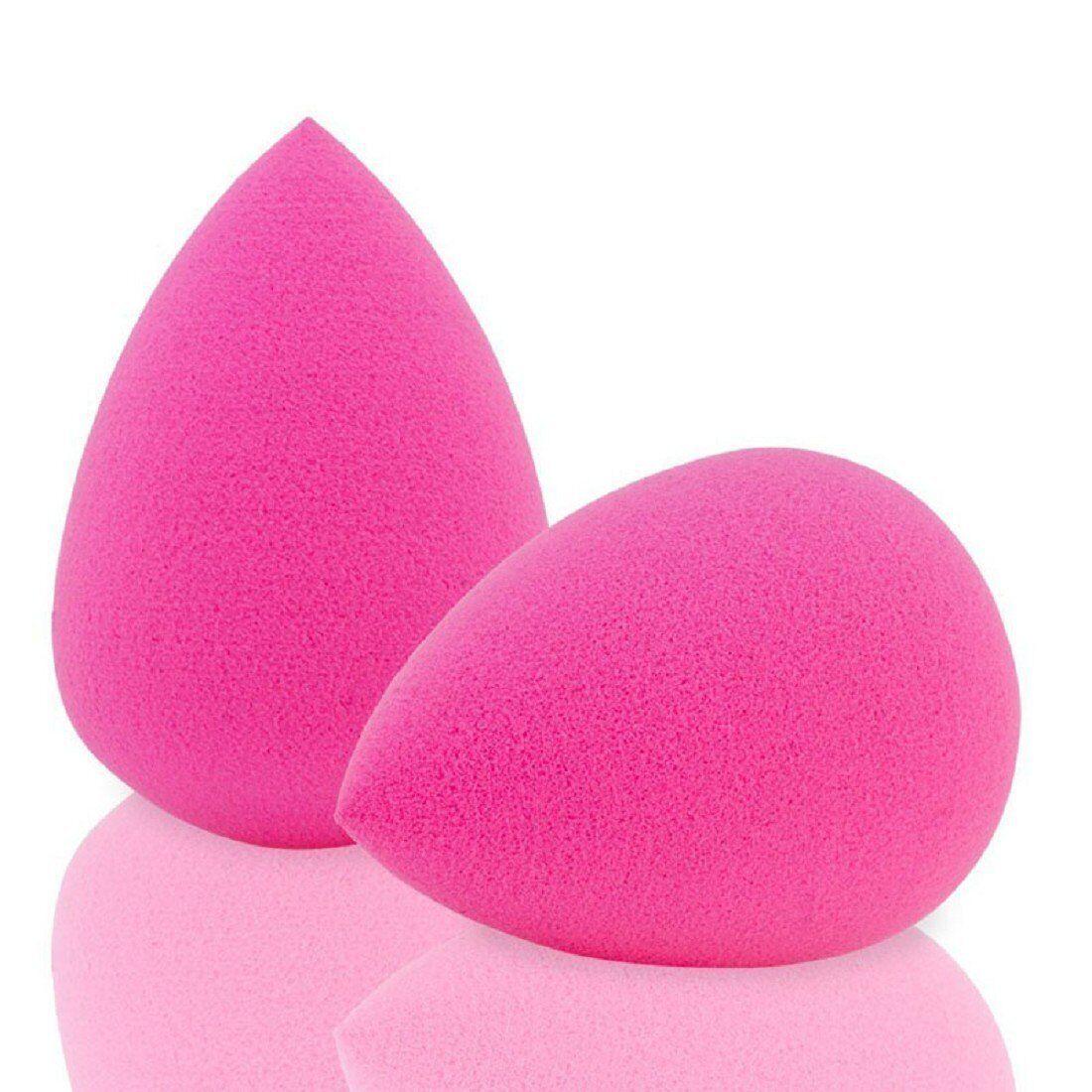 2 Pcs Pro Beauty Flawless Makeup Blender Foundation Puff Sponges Rose Pink