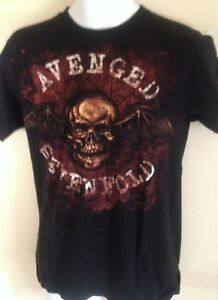 VINTAGE-AVENGED-SEVENFOLD-SKULL-2003-MEDIUM-T-SHIRT-OUT-OF-PRINT-ROCK-METAL