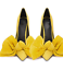Womens-Pointy-Toe-Big-Bow-Pointed-Toe-Shoes-Suede-Stiletto-High-Heel-Party-Pumps thumbnail 7