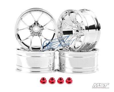 MST Silver RID RC 1/10 Drift Car Wheels offset 11 (4 PCS) 102058S New