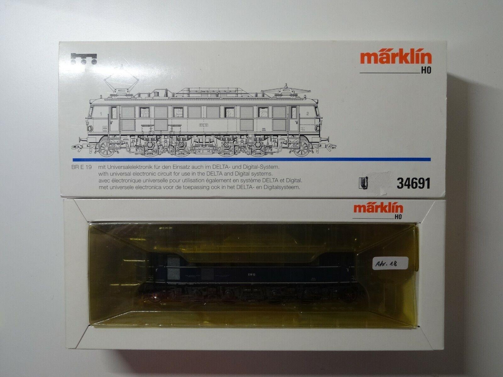 Märklin HO ART 34691 E-Lok BR e 19 della DR, MHI, Delta con OVP