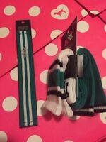 New Victoria's Secret Pink Crew Socks Green Black WHITE 2 pairs Headband Set 3pc