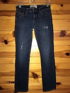 HOLLISTER-Women-039-s-Juniors-Distressed-amp-Destroyed-Jeans-Size-5S-W-27-L-31