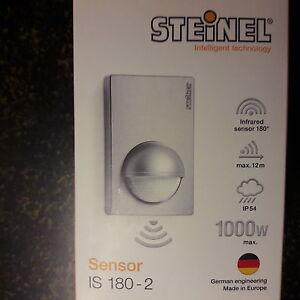 steinel bewegungsmelder is 180 2 sensor wei oder silber ebay. Black Bedroom Furniture Sets. Home Design Ideas