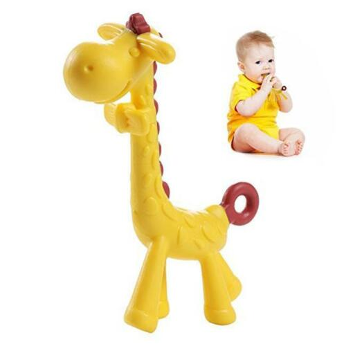 Giraffe Baby Teether Teething Pacifier Chew Infant Tooth Chewing Ring Toy 8C