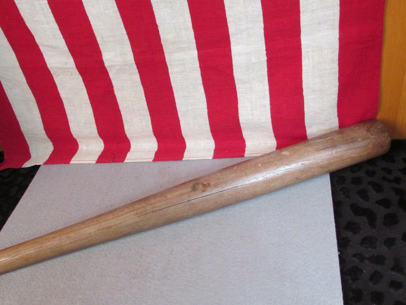Vintage Fledermaus Rite Früh Holz Baseball Baseball Baseball Schläger Hanna Mfg Co Athen Ga. 33   0f097b