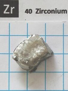 11-gram-Zirconium-metal-nugget-99-81-Zirkonium-Metall-element-40-sample