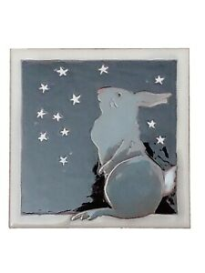 Set of Two Blue Bird on Cherry Tree Art Tiles Elaine Cain 6X6/""
