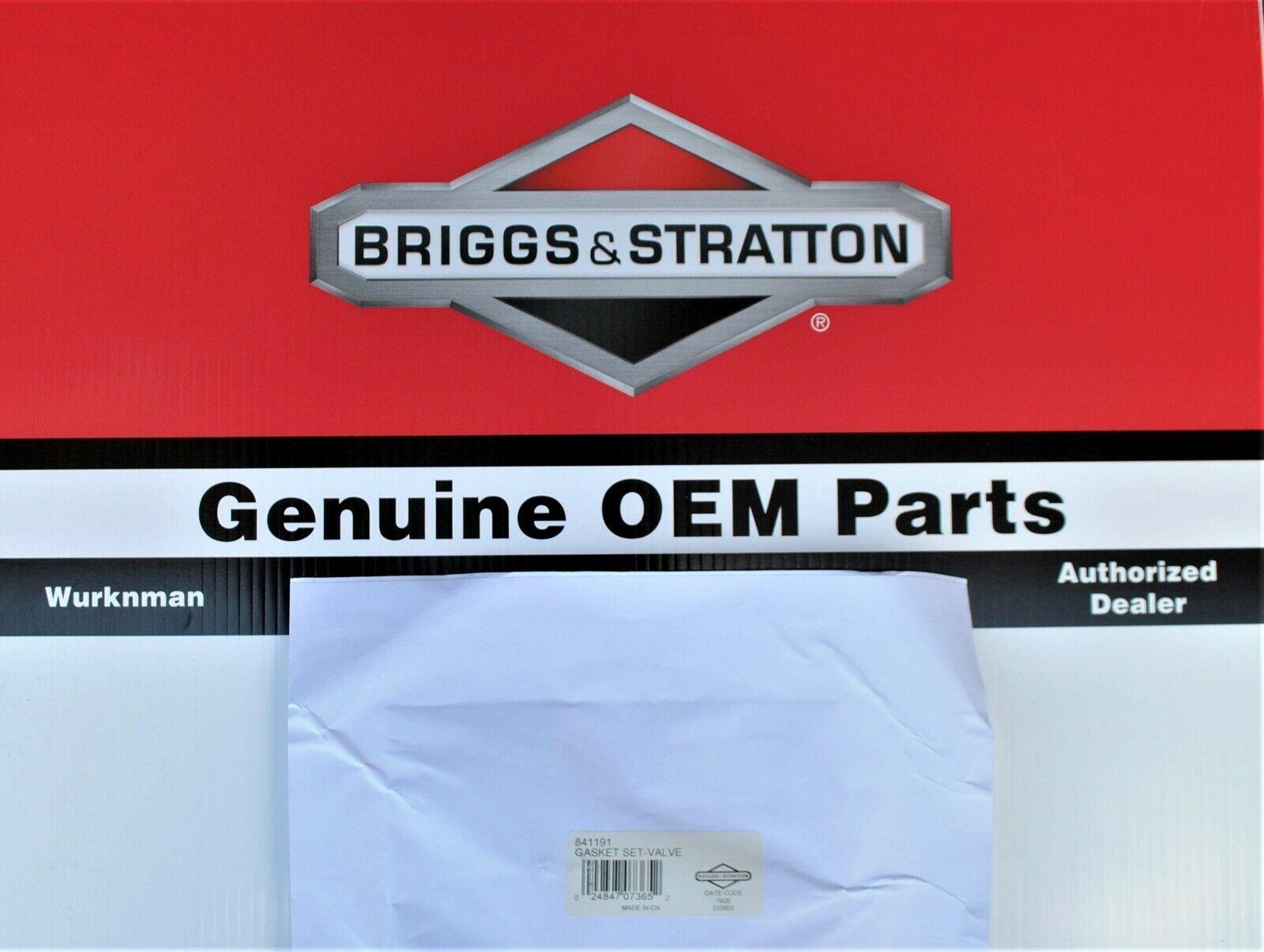 Genuine OEM Briggs Stratton 841191-Juego De Juntas & Válvula