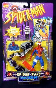 Spider-Wars-Cyborg-Spider-man-Action-Figure-New-1996-Toy-Biz-Marvel-Amricons