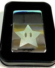 MARIO STAR Game Fun NEW Engraved Chrome Cigarette Favor Lighter Gift LEN-0023