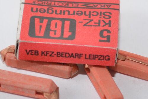 Trabant Wartburg NOS 6 x 25 16 A 5x KFZ-Sicherung von AKA VEB aus Keramik