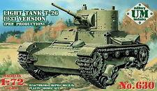 1/72 T-26 light tank 1933 version  UMMT630 Models kits