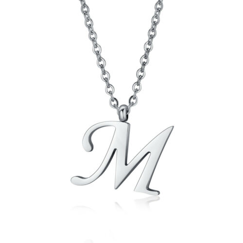 NP355M NEW Quality TT 316L Stainless Steel Inital Letter M Pendant Necklace