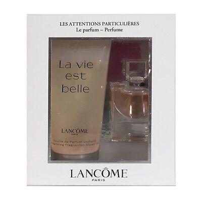 Lancome La Vie Est Belle Miniatura Conjunto de Regalo 4ml EDP y 50ml Perfumada Gel De Ducha   eBay