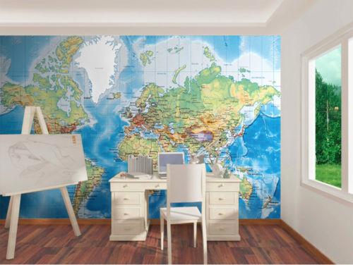 3D Business  Map 88 Wall Paper Murals Wall Print Wall Wallpaper Mural AU Kyra