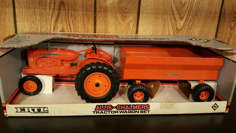 ERTL ALLIS CHALMERS WD-45 avec  wagon 1 16 Diecast tracteur et Pressé Acier Wagon  le moins cher
