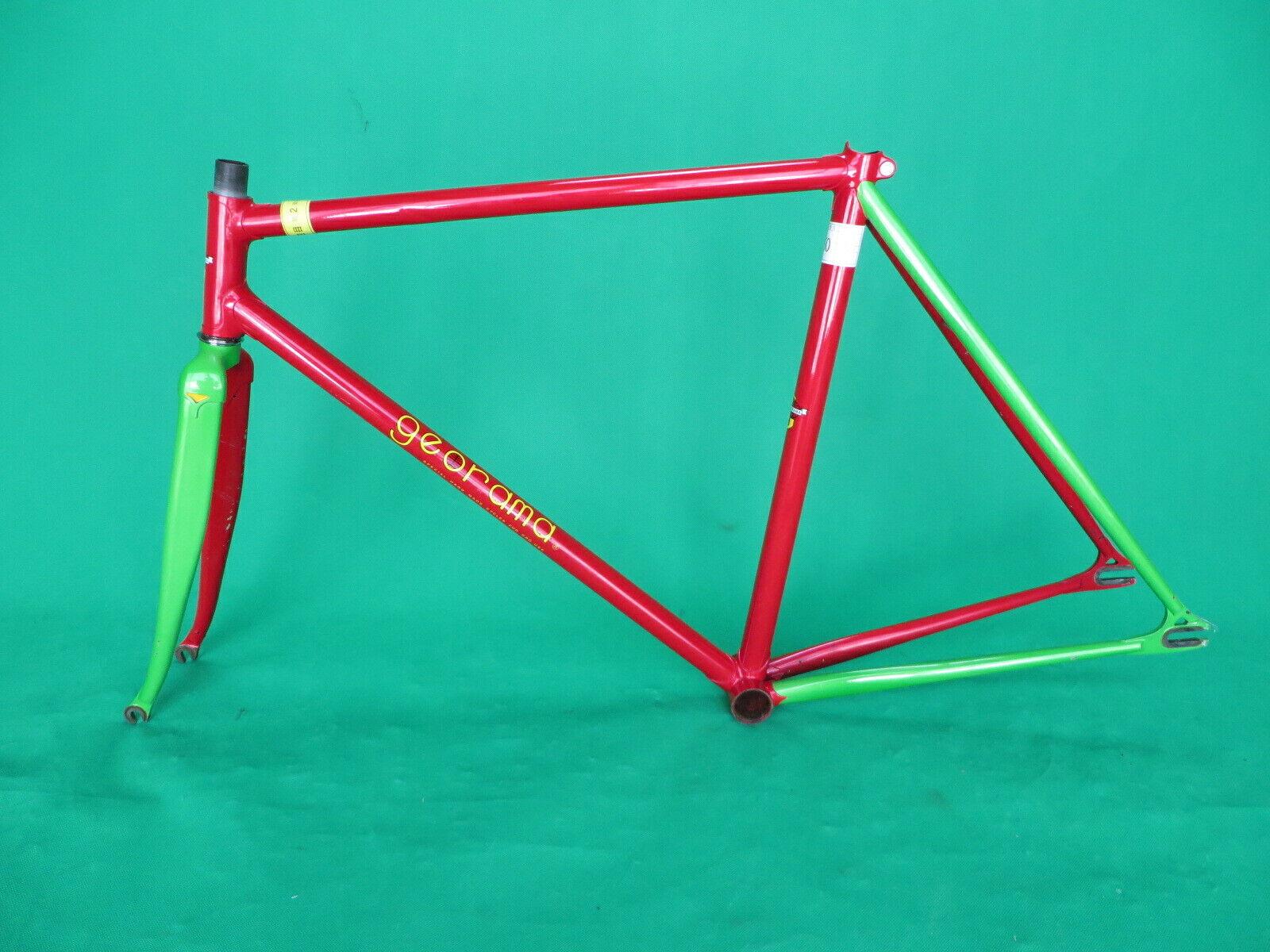 Georama NJS Keirin Frame Conjunto de pista de bicicleta de una sola velocidad Columbus Max Horquilla 51cm