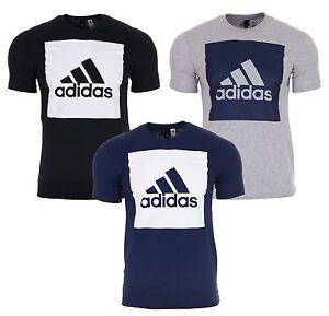 Adidas-Herren-T-Shirt-Tee-Sport-Shirt-Essentials