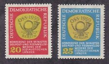 Germany DDR 432-33 MNH 1959 Conference of Socialist Postal Ministers Post Horn