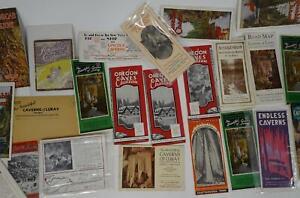 Lot-20-Vintage-United-States-Travel-Brochures-Maps-Ephemera-Caverns-Chasms