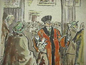 Acheter Pas Cher Dessin Original C1940 Caricature D'un Magistrat Suisse Allégorie Franc-maçon ?