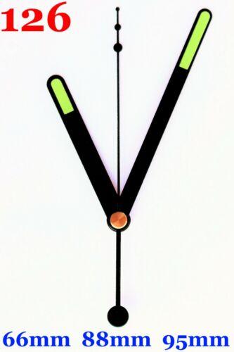 Quarz Uhrwerk ohne Ticken Lautlos fluoreszierende Leuchtende Zeiger Sets  #126