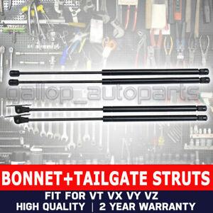 Details about 4pcs for Holden Commodore Bonnet & Tailgate Gas Struts VT VX  VY VZ Station Wagon