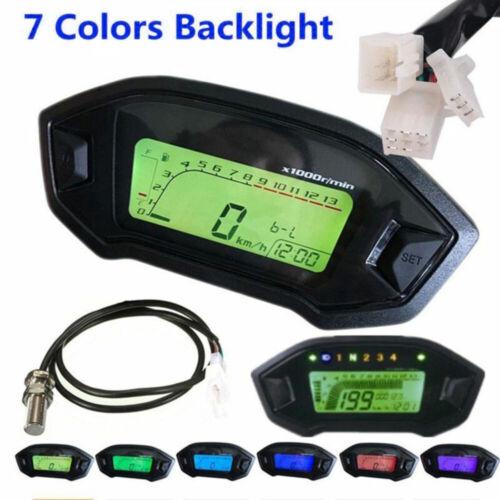 Universal Motorrad Geschwindigkeitsmesser Digital LED Tachometer Drehzahlmesser