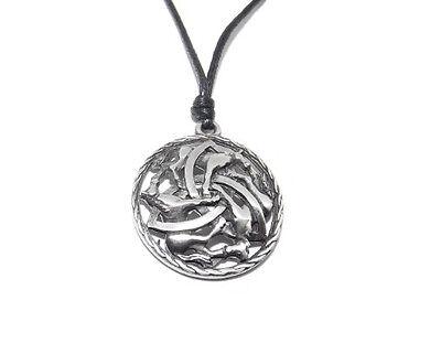 Iverurie Horse Circle Trinity Celtic Triquetra Pendant / Necklace