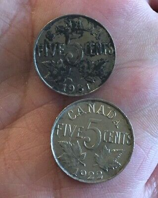 Lots of Two 1931 Canada Nickel Five Cents