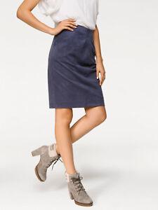 new styles bd3d9 9654b Details zu Faltenrock, Rick Cardona by heine. Marine Lederimitat. NEU!!! KP  59,90 € SALE%%%