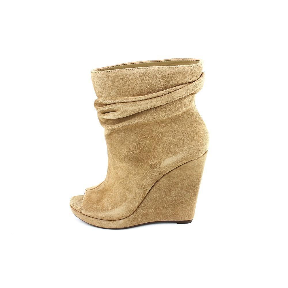NIB Women's BCBG Generation Oboe Couture Vera Wedge Boots Avorie Shoes CornSilk